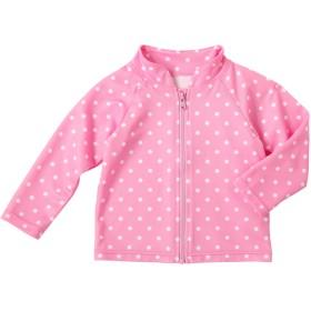 ミキハウス 星&ドット柄 ジップアップラッシュガード ピンク