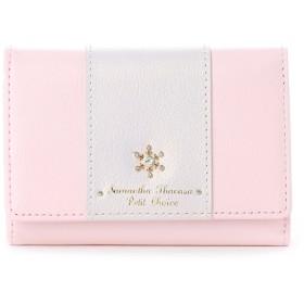 サマンサタバサプチチョイス 雪の結晶シリーズ 折財布【3年保証対象品】(ピンク)
