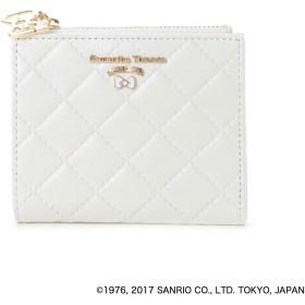 サマンサタバサプチチョイス ハローキティコラボ折財布 ホワイト
