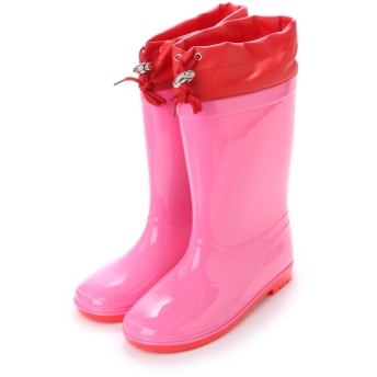 ケーズプラス K's PLUS 巾着付き 水・雪の浸入防止 レインシューズ 16cm-24cm キッズ,ベビー,男の子,女の子,長靴,レインブーツ,子供 (PINK)