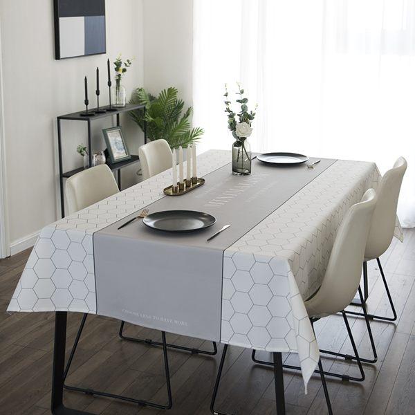 時尚可愛空間餐桌布 茶几布 隔熱墊 鍋墊 杯墊 餐桌巾659  (100*140cm)
