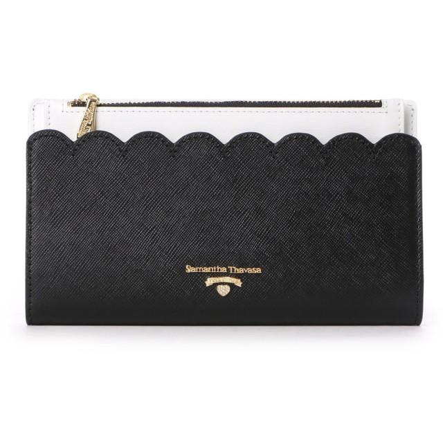 サマンサタバサプチチョイス スカラップモチーフ 長財布(ブラック)