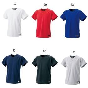 エスエスケイ野球 メンズ 2ボタンベースボールTシャツ 無地 野球ウェア トップス 練習着 BW1460