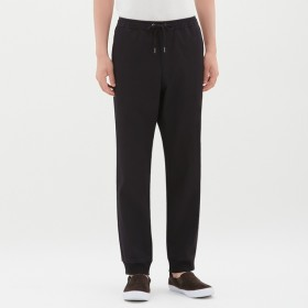 (GU)デニムジョガーパンツ BLACK XL