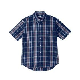 ボタンダウンチェック柄半袖カジュアルシャツ カジュアルシャツ