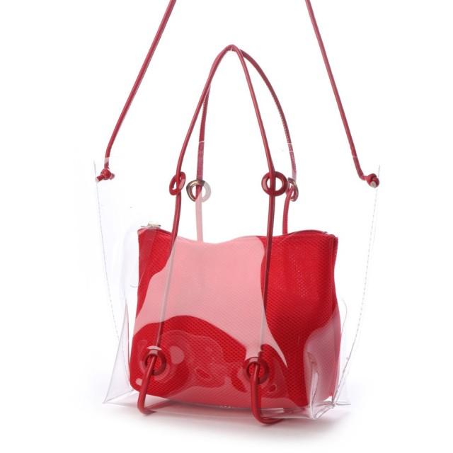 COOCO クーコ インバッグ付クリアトートバッグ