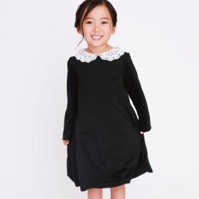 コムサイズム COMME CA ISM 替え衿付き 長袖 ワンピース (ブラック)