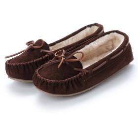 ミネトンカ Minnetonka CALLY Suede Moccasin Shoes (チョコ ブラウン)