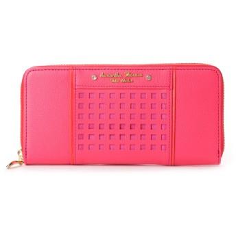 サマンサタバサプチチョイス パンチングシリーズラウンドジップ財布 フューシャピンク
