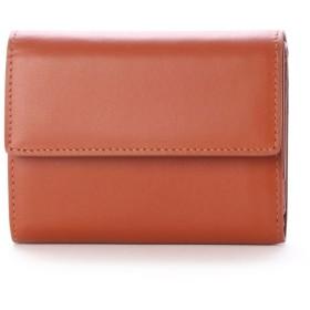 アッド Add+ 本革 レザーコンパクトミニウォレット 三つ折りミニ財布 (キャメル)