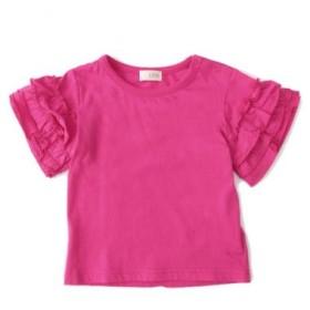 ビー・ルーム/3段フリル袖Tシャツ