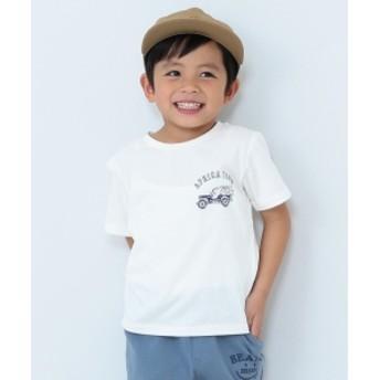 【予約】BEAMS mini / アフリカスーベニアTシャツ (90~150㎝) キッズ Tシャツ OFF WHT 100