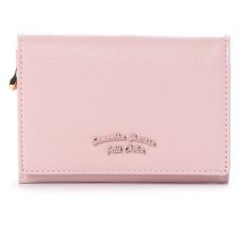 サマンサタバサプチチョイス バイカラーシンプルロゴシリーズ(折財布) ピンクベージュ