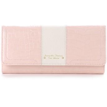 サマンサタバサプチチョイス クロコシリーズ 長財布【3年保証対象品】(ピンク)