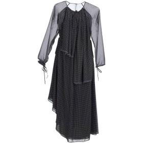 《期間限定セール中》LOEWE レディース 7分丈ワンピース・ドレス ブラック 34 ポリエステル 100%