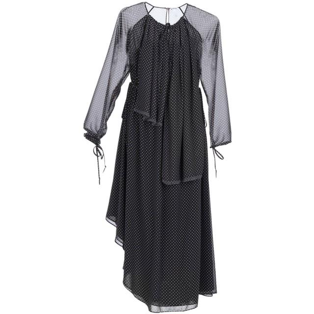 《セール開催中》LOEWE レディース 7分丈ワンピース・ドレス ブラック 42 ポリエステル 100%