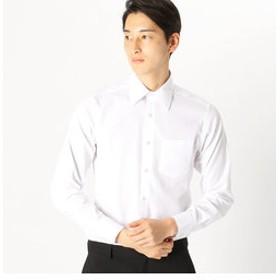 【COMME CA ISM:トップス】《イージーケアー・抗菌防臭加工》市松柄 レギュラーカラー 長袖シャツ