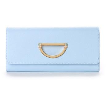 サマンサタバサプチチョイス VioletD(バイオレット D) お財布シリーズ フラワーバージョン 長財布 ライトブルー