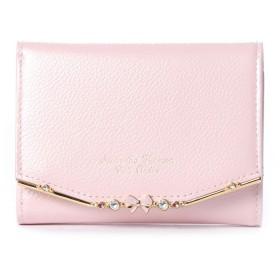 サマンサタバサプチチョイス リボンバー金具エナメルシリーズ(折財布) ピンク
