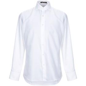 《期間限定 セール開催中》ROBERTO CAVALLI メンズ シャツ ホワイト 42 コットン 100%