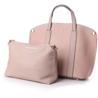 フィラノ FIRANO 【2点SET】メタルデザイントートバッグ (バッグインバッグ付) (PINK)