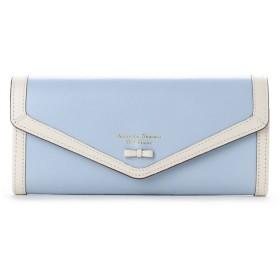 サマンサタバサプチチョイス プチリボンパイピングシリーズ 長財布(ライトブルー)
