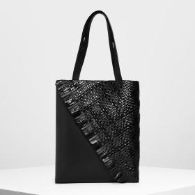CHARLES&KEITH Weave Detail Tote Bag