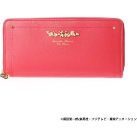 サマンサタバサプチチョイス ワンピースコラボシリーズ ラウンドジップ長財布(レッド(ルフィ))