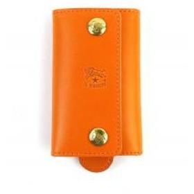 イルビゾンテ IL BISONTE レザー リング付き キーケース 54152309290 F(フリー) オレンジ(66)