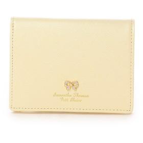 サマンサタバサプチチョイス リボンストーン モチーフシリーズ ミニ折財布(イエロー)