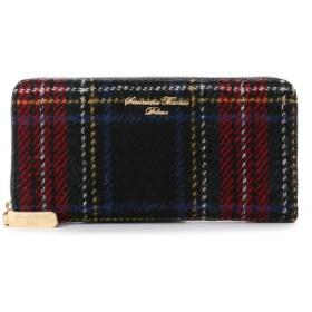 サマンサタバサデラックス ハリスツイード ラウンド財布(ブラック)
