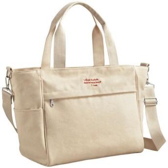50%OFF10ポケットキャンバスバッグ - セシール ■カラー:キナリ