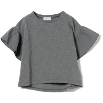 PLAY UP / 袖フリル 半袖 カットソー(3~10才) キッズ Tシャツ GREY 4y