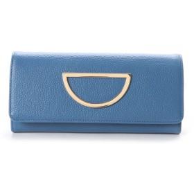サマンサタバサ バイオレットD 新色 かぶせ長財布(ダルブルー)
