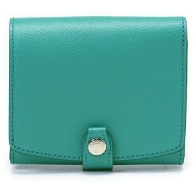 トプカピ TOPKAPI 角シボ型押し・折り財布 (ミントグリーン)