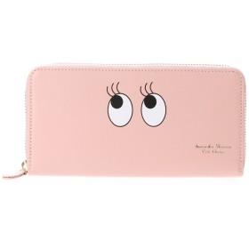 サマンサタバサプチチョイス アメイジングフェイスシリーズ ラウンドジップ長財布(ピンク)