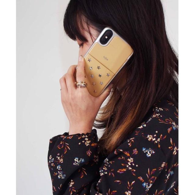kajsa 〈Kajsa〉iPhone X Star Pocket Backcase(ベージュ)