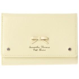 サマンサタバサプチチョイス リボンプレート口金財布カラーリングリボンバージョン ペールイエロー