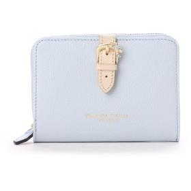 サマンサタバサプチチョイス ベルトモチーフシリーズ ラウンドジップ折財布(ライトブルー)
