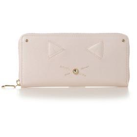 サマンサタバサプチチョイス ネコモチーフシリーズ(ラウンドジップ長財布) ピンク