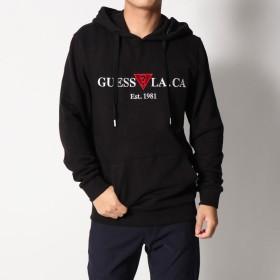 ゲス GUESS LA. CA LOGO PULLOVER PARKA (BLACK)