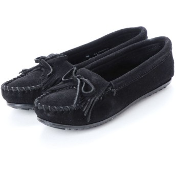 ミネトンカ Minnetonka KILTY Suede Moccasin Shoes (ブラック)