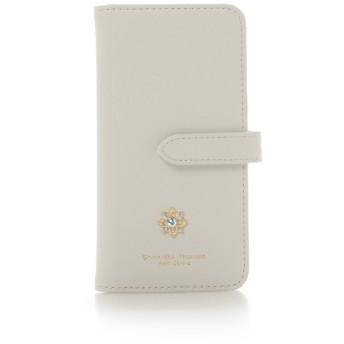 サマンサタバサプチチョイス iPhoneXケースフラワーモチーフシリーズ ホワイト