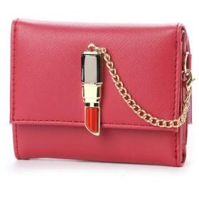 スパイラルガール SPIRAL GIRL 口紅型金具付き折財布 (レッド)