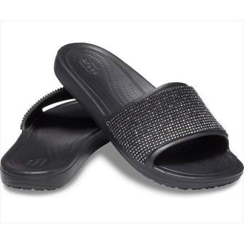 [crocs]クロックス レディース スローン メタリック カラーブロック スライド (205605)(0FE) ブラックオンブル[取寄商品]