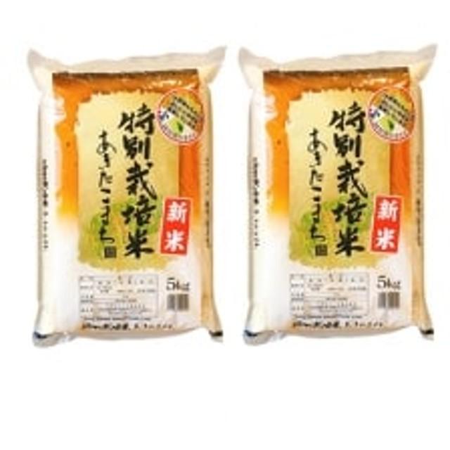 【平成24年~29年まで毎年特A評価】秋田県横手産あきたこまち特別栽培米5kg×2袋 合計10kg