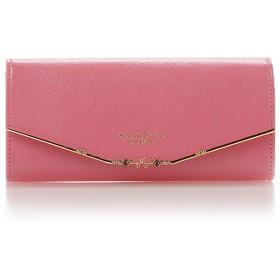 サマンサタバサプチチョイス リボンバー金具シリーズ長財布 ピンク