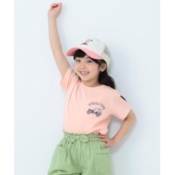 【予約】BEAMS mini / アフリカスーベニアTシャツ (90~150㎝) キッズ Tシャツ PEACH 100
