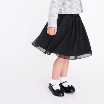 コムサイズム COMME CA ISM リバーシブル スカート (ブラック)