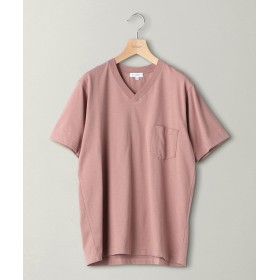 【30%OFF】 ビューティ&ユース ユナイテッドアローズ BY クリスピーコットン 1ポケット Vネック Tシャツ メンズ PINK M 【BEAUTY & YOUTH UNITED ARROWS】 【セール開催中】
